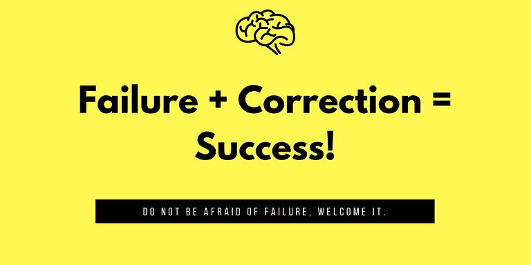 Failure + correction smaller