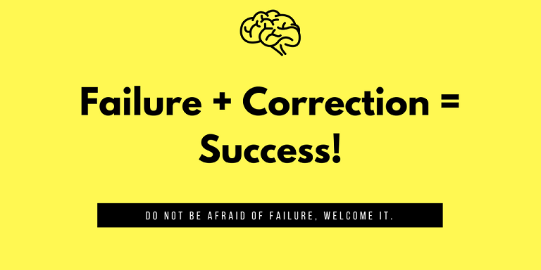 Failure + correction smaller